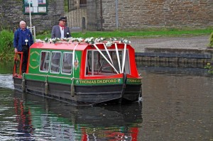 Thomas Dadford leaving Castle Quay to collect a Bride