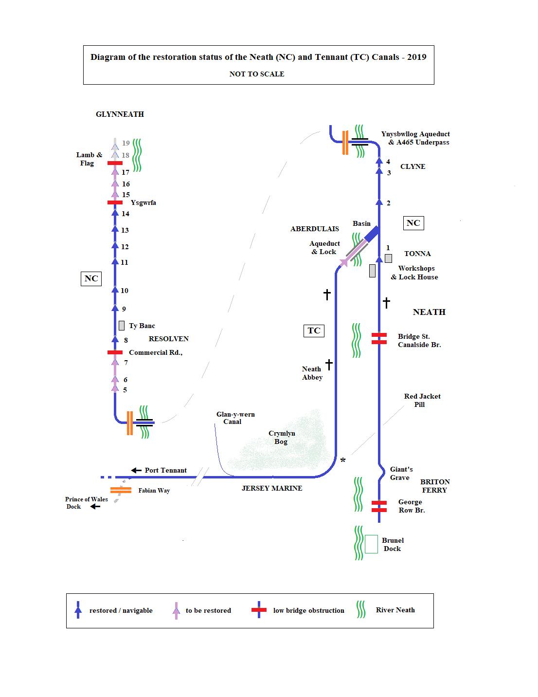 Neath & Tennant Canal Restoration Map